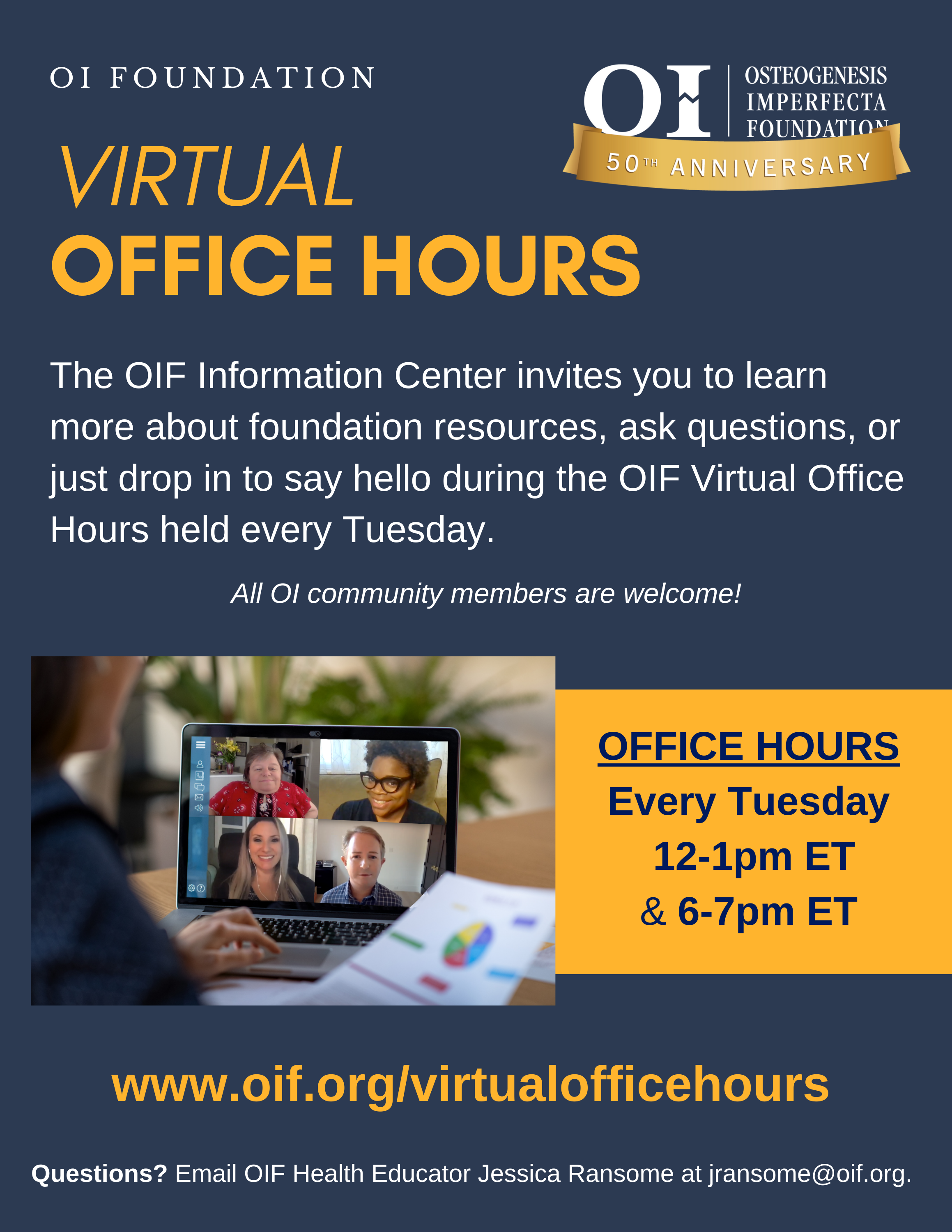 NEW! OIF Virtual Office Hours