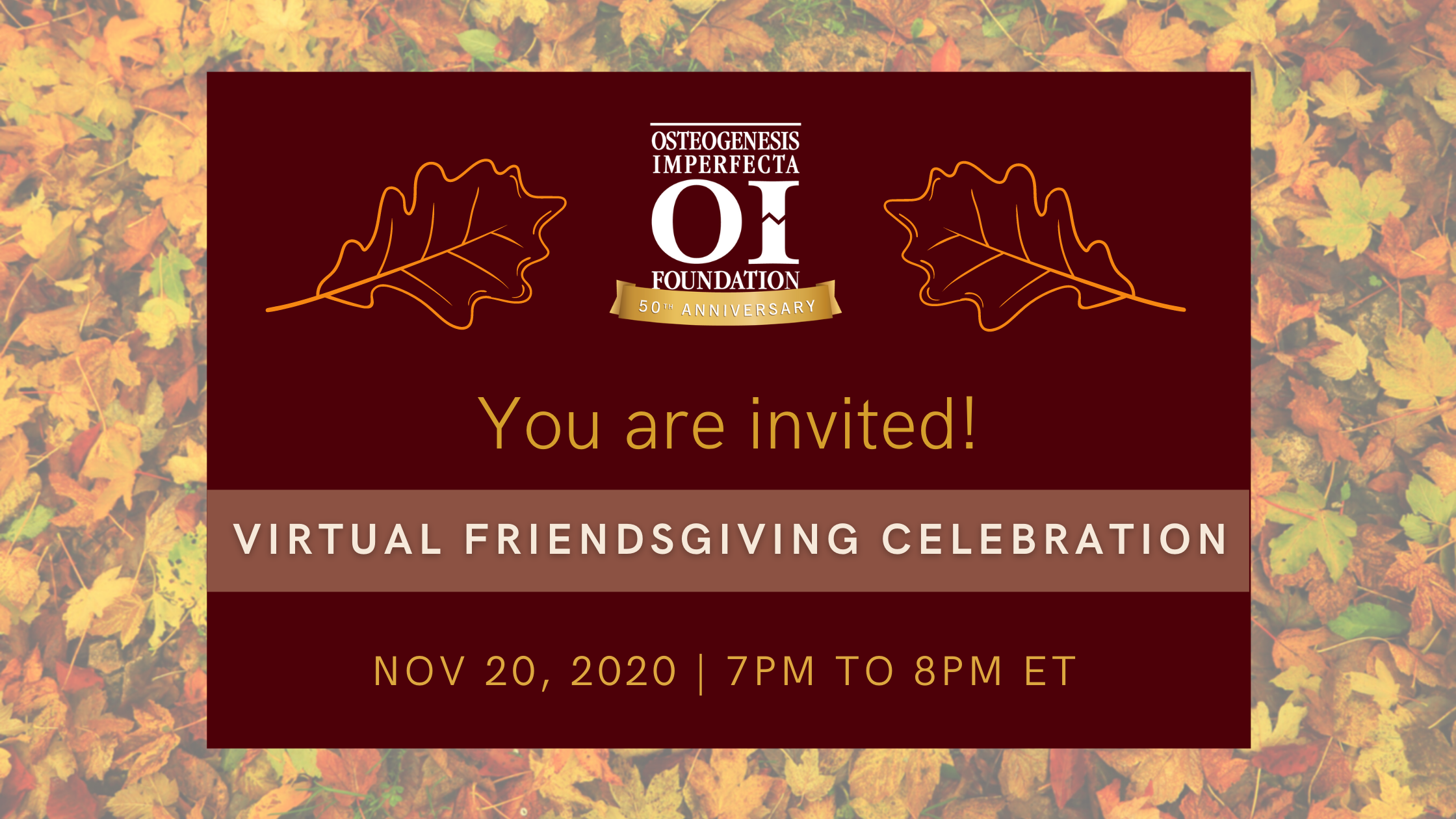 Please join us for a Virtual Friendsgiving Celebration!