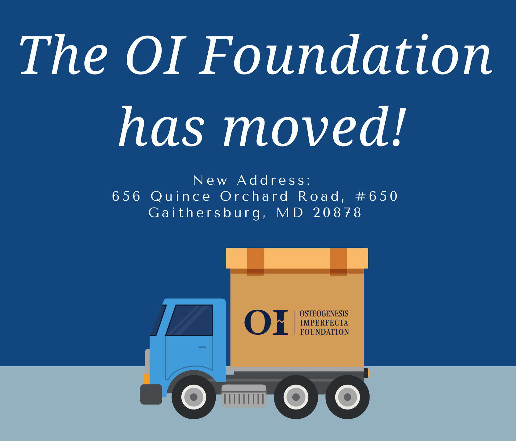 The OI Foundation has moved!