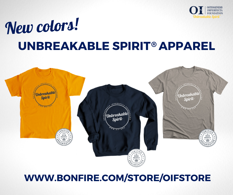 New colors! Unbreakable Spirit® Apparel is Back!