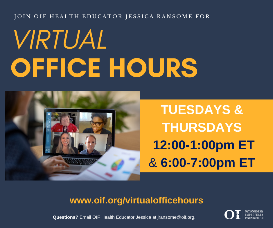 NEW Virtual Office Hours Schedule!
