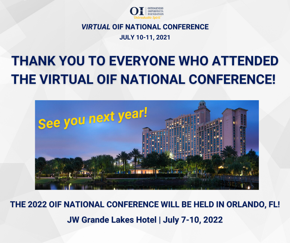 Thank you for Attending OIF Virtual Conference!