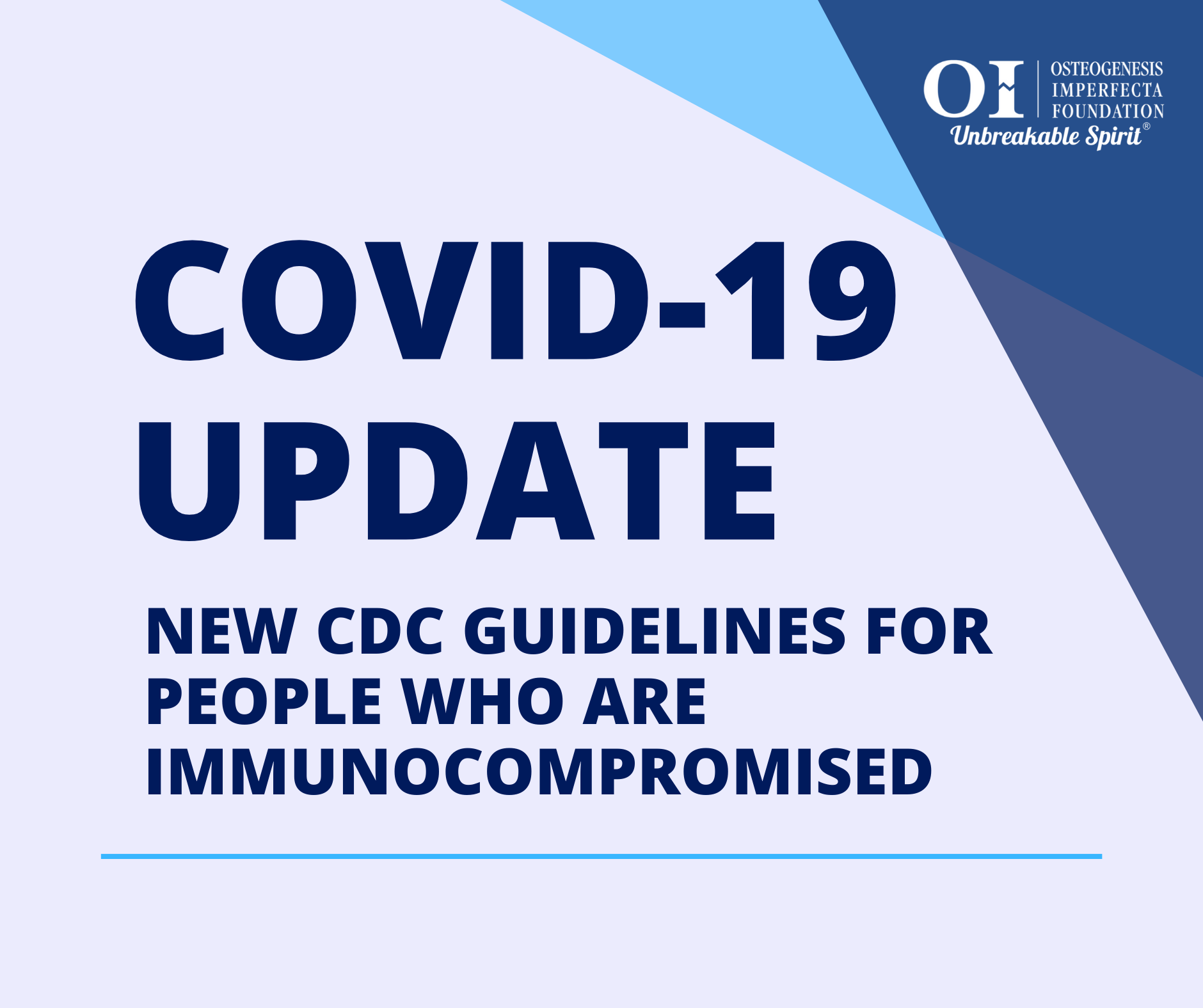New CDC Guidelines for People who are Immunocompromised